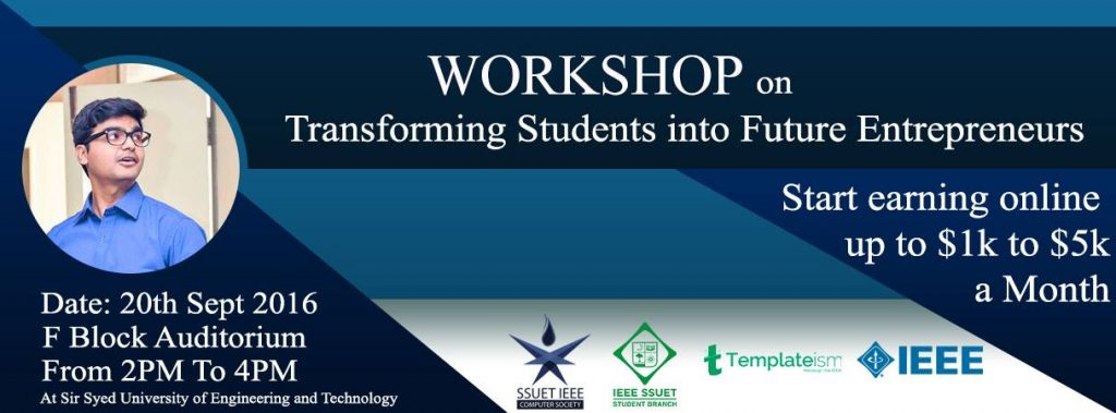 Motivational Workshop At SSUET By Syed Faizan Ali