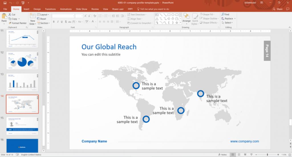 Slidemodel Global Catch